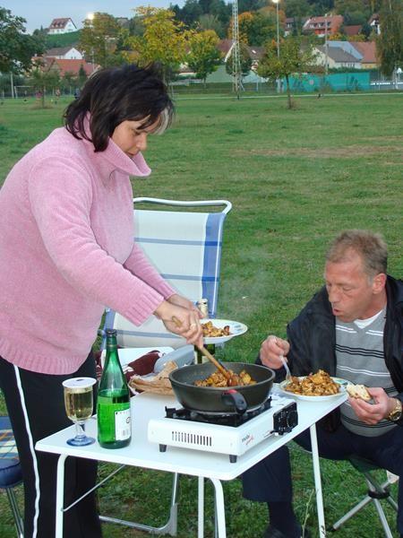 Bratkartoffeln mit Eiern gibt es bei Katrin und Frank