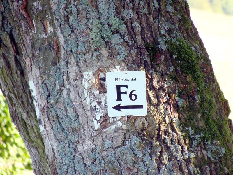 Kennzeichnung für die unterschiedlichen Wanderwege