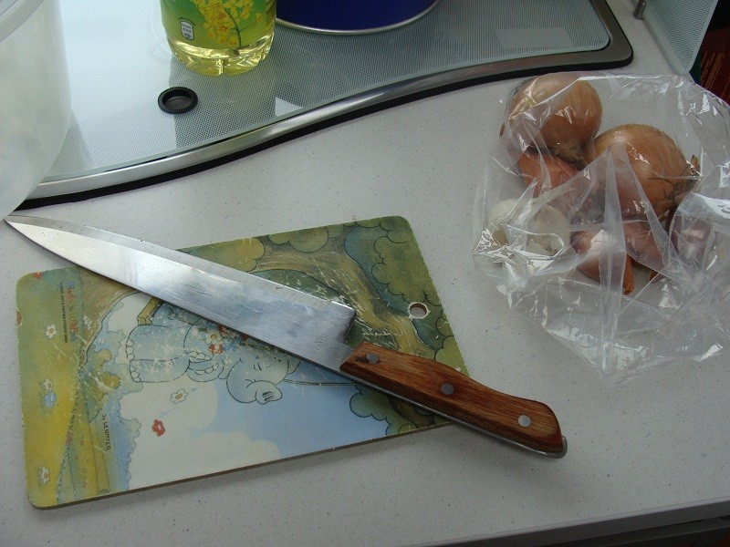 Mein Handwerkszeug und die Zutaten zur Marinade