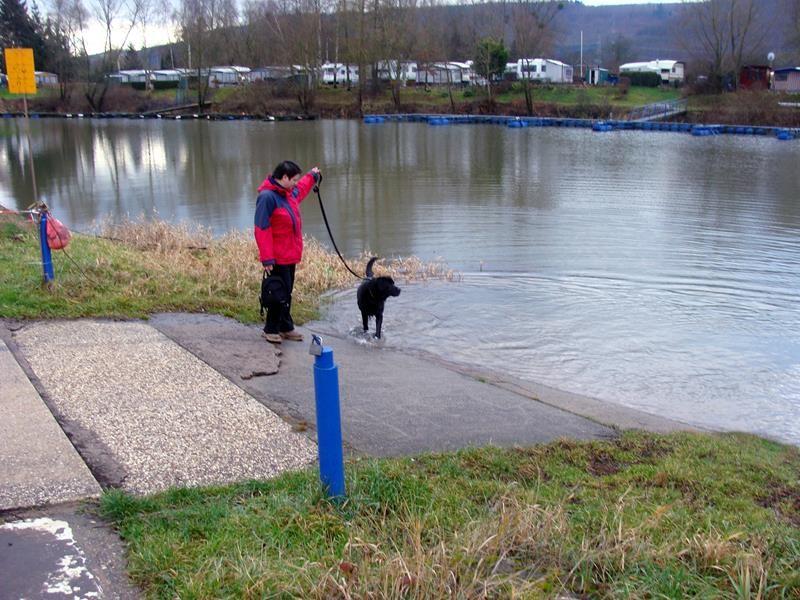 Basco war noch kurz zu säubern im Wasser.