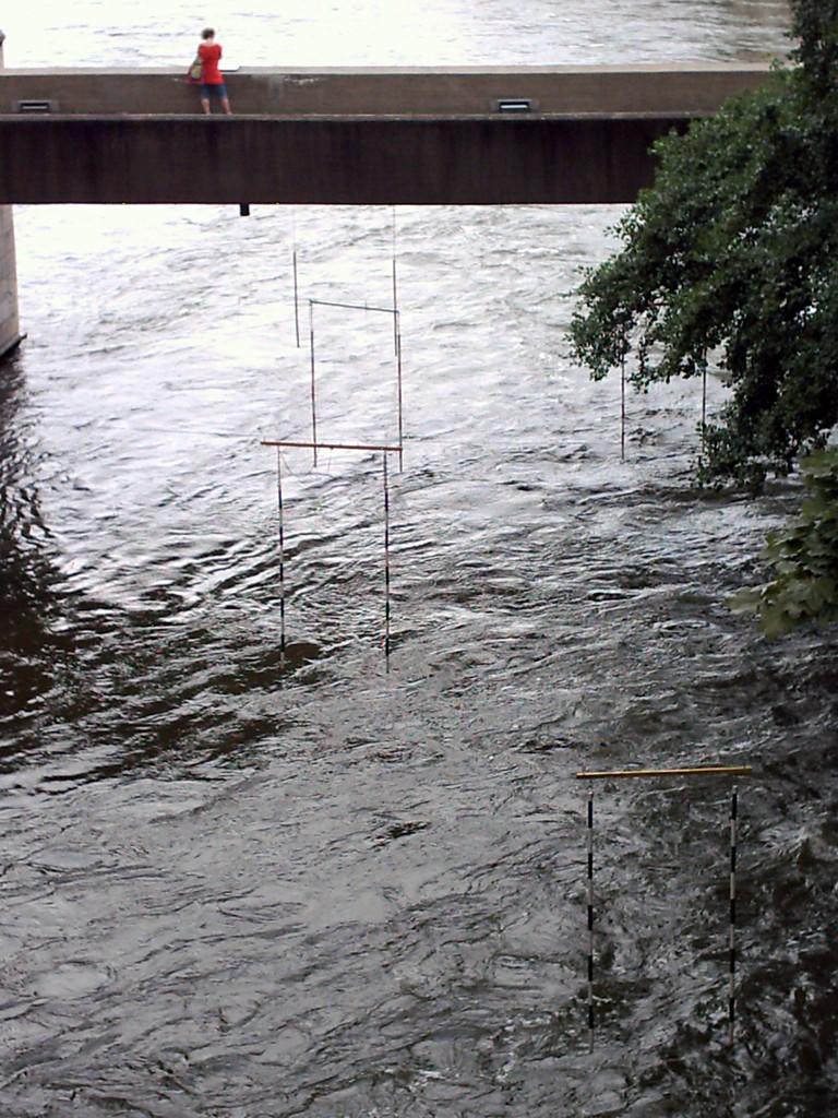 Die Tore für die Kanu-Fahrer