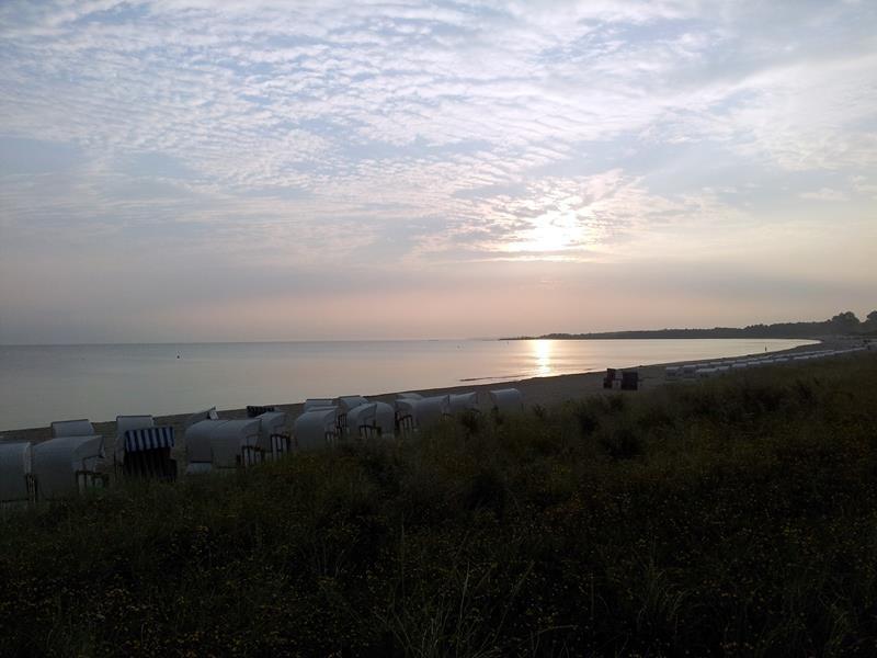 Am nächsten Morgen gehe ich mit Basco noch mal zum Strand und verabschiede mich....