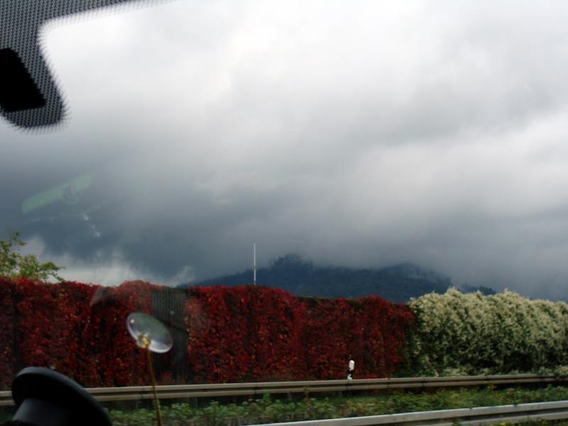 Sind das mal Wolken. Leider regnet es auch immer wieder einmal.