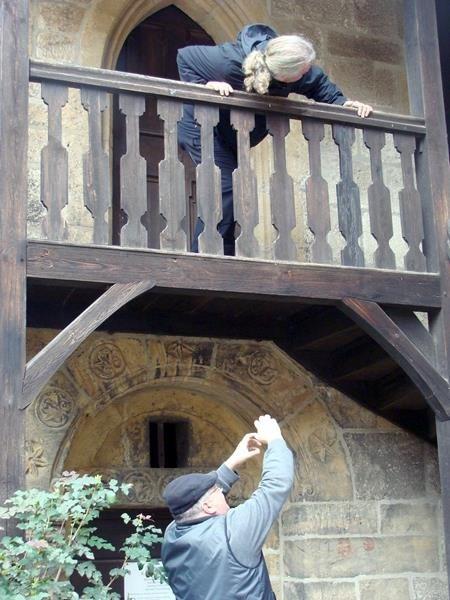 Die Laiendarsteller von Rapunzel bei der Probe.....der Zopf muss aber noch wachsen - wir kommen dann wieder ;)