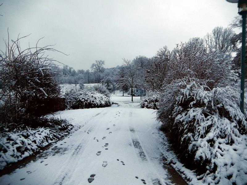 Und am nächsten Tag liegt richtig viel Schnee.