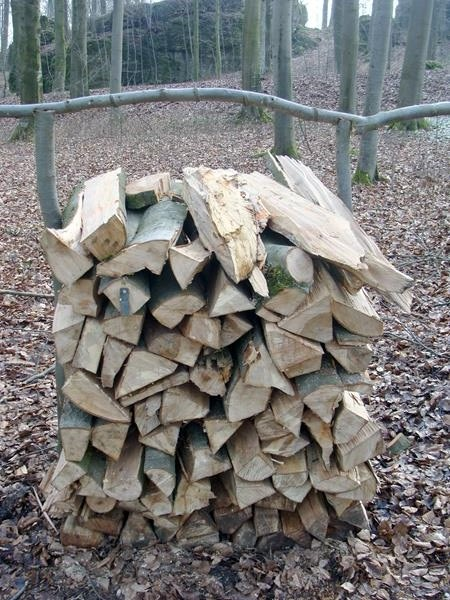 Die haben hier ihre eigene Art das Holz zu stapeln. Liegen ja genug Äste herum.
