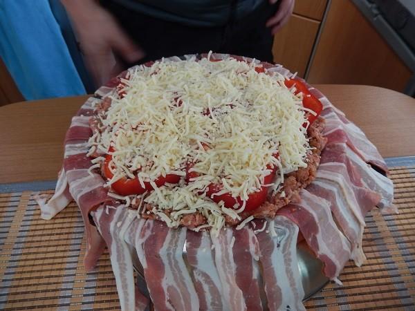 zum ende kommt der ganze Beutel Käse noch drauf und wird verteilt