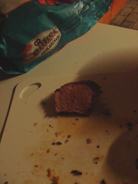 Nicht mehr viel übrig vom Fleischkäse