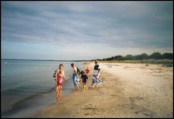 Heute wandern wir am Strand entlang. Ca. 2 km entfernt gibt es eine Fischräucherei, da holen wir unser Abendessen.