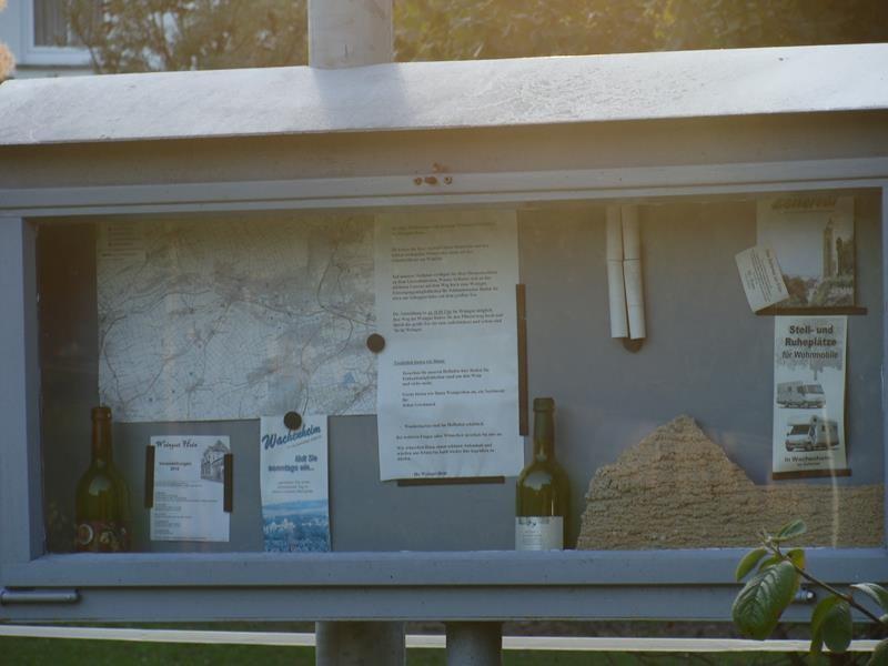 Infotafel am Stellplatz