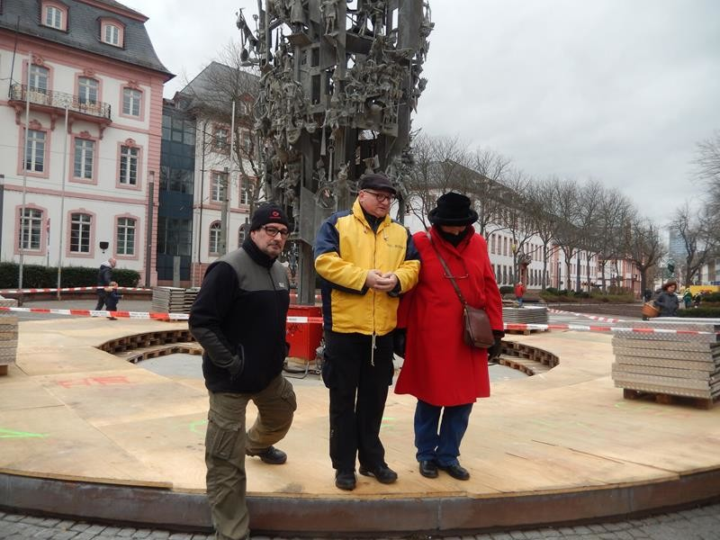 Am nächsten Tag werden wir von Ralf durch Mainz geführt :)