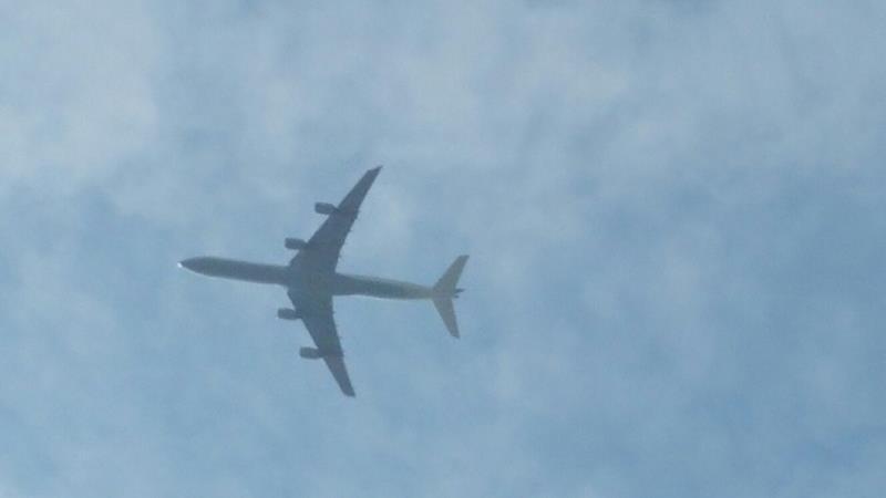 Der Flugverkehr stört nicht.