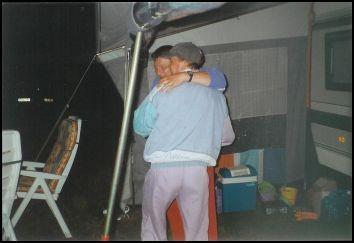 Jens und Dirk wagen ein Tänzchen....