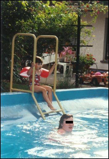 Abkühlung im Pool......herrlich.