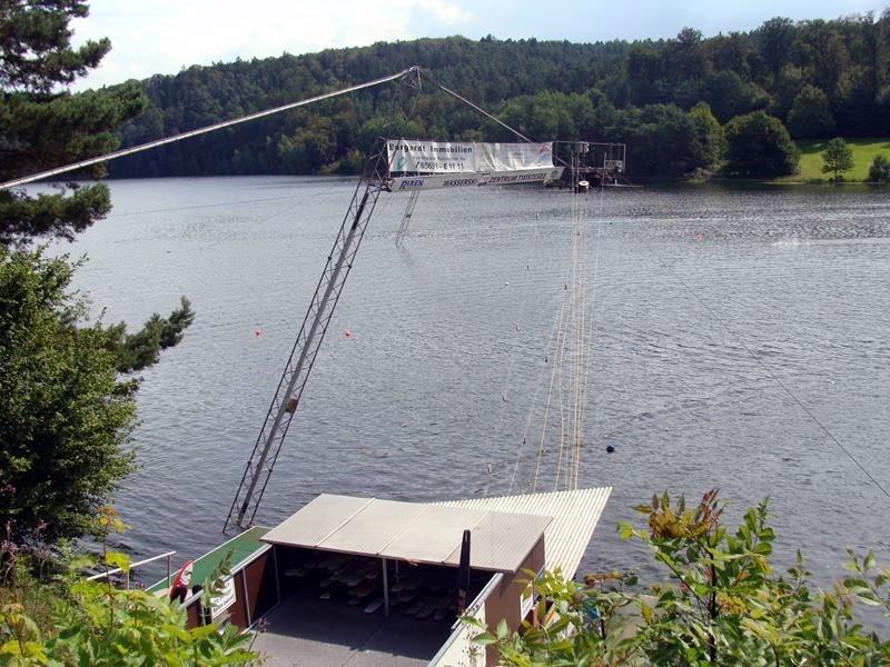 Die Wasserski-Anlage.