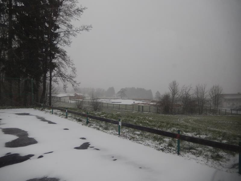 27.12.14 - morgens um kurz nach 9 Uhr - es schneit.