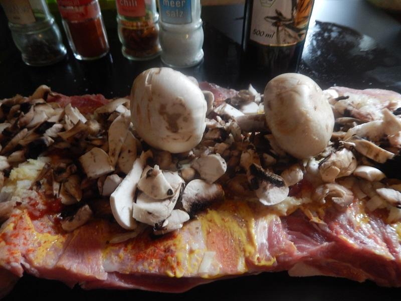 .......sowie auch die geschnittenen Pilze
