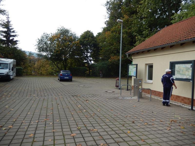 Das ist der Stellplatz unten in Sondershausen.