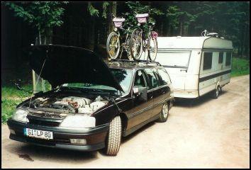 Auf der Fahrt nach Thüringen. Wieder mal heißgelaufen