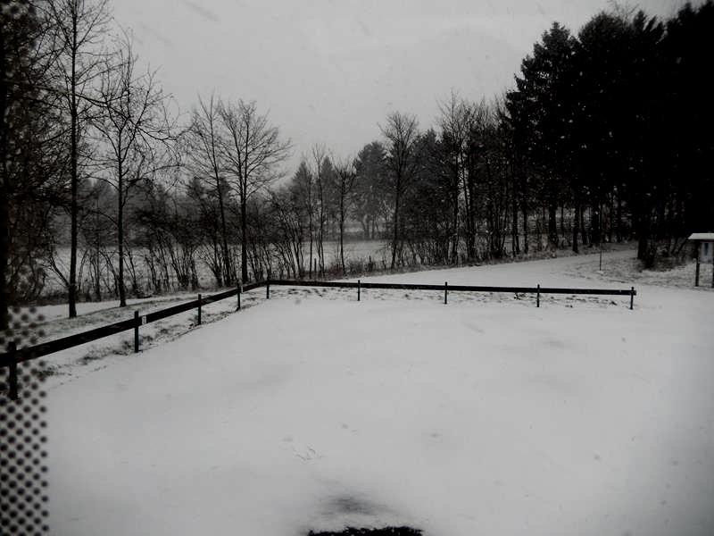 Rasch ist alles mit Schnee bedeckt.