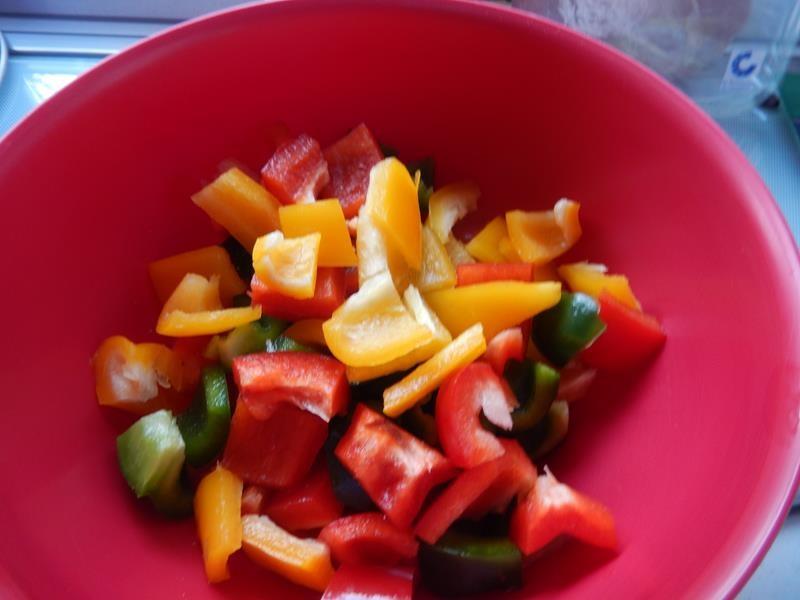 Jetzt muss alles Gemüse gewaschen und geschnitten werden