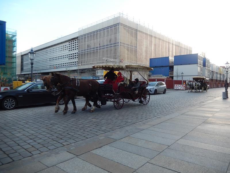 Auch mit der Kutsche ist eine Stadtrundfahrt möglich. Um die 15€ pro Person.