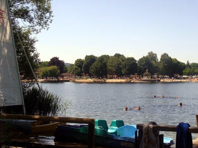 Wir machen einen Abstecher auf den Campingplatz Guthorn.....vom Strand aus sieht man den Strandcamping-Platz