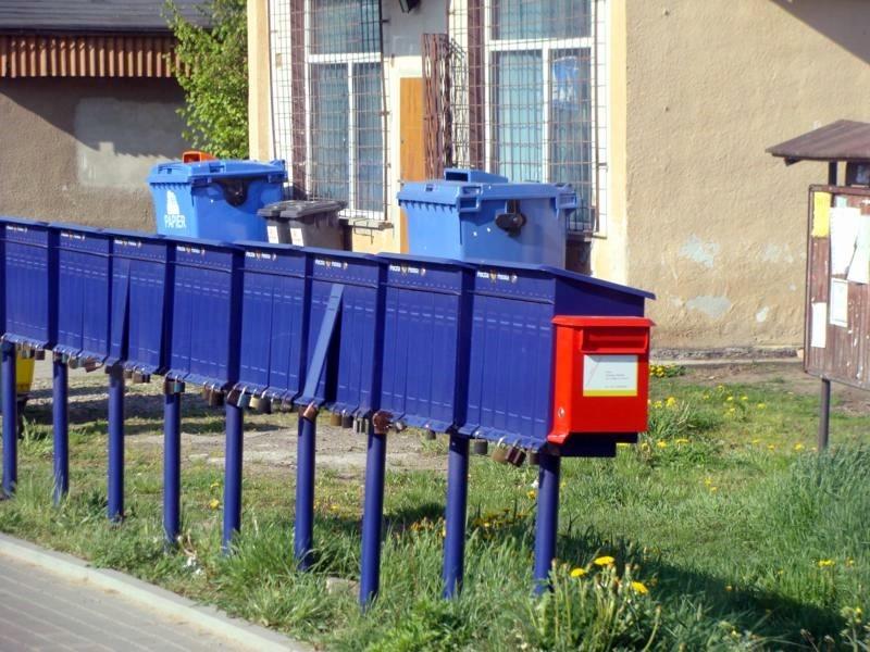 Briefkästen. Hier muss jeder seine Post abholen.