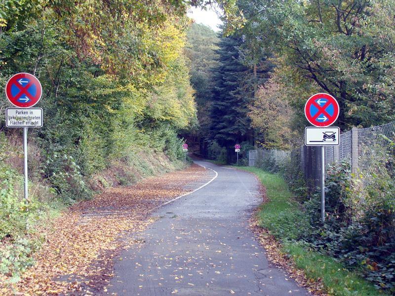 Hier geht ein Radweg lang...auch hier kommt man nach Hohenstein.