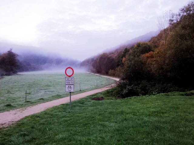 Am Ortsrand...der Radweg nach Hohenstein