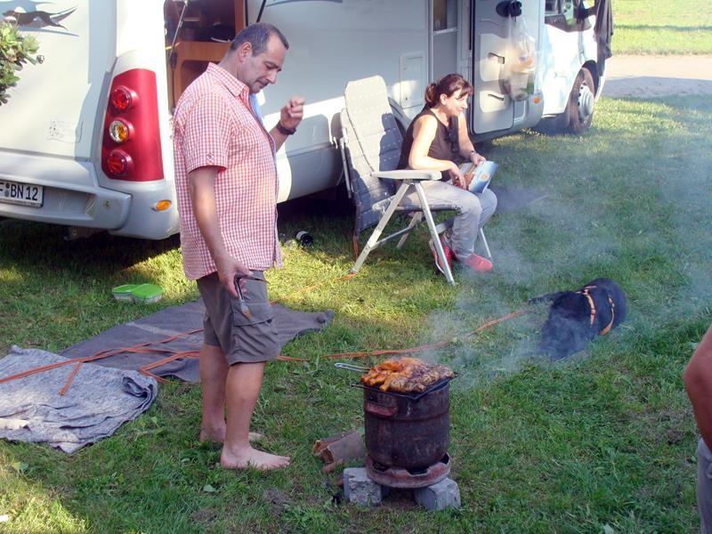 Inzwischen weniger Qualm und doch mehr Feuer. ;))