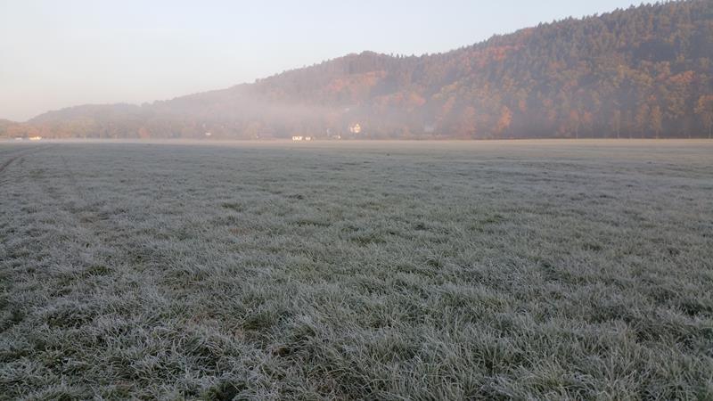 Bad Salzungen am frühen Morgen und der erste Frost