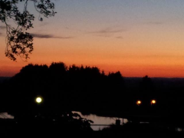 dann den schönen Abend noch genießen und in die Ferne schweifen