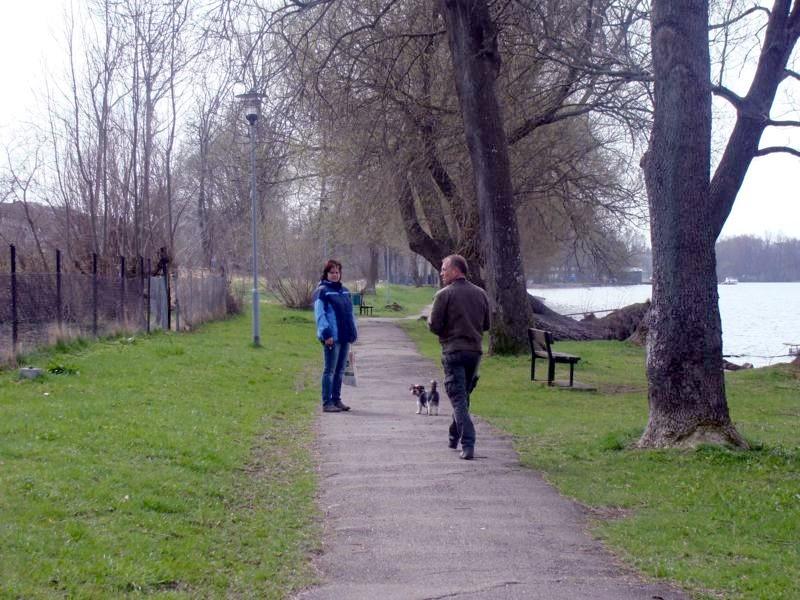 Man geht schön am See entlang. Bis zum Supermarkt sind es allerdingt gut 2 km.