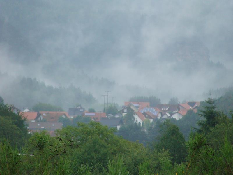 Es hat dann auch geregnet - aber nur kurz.