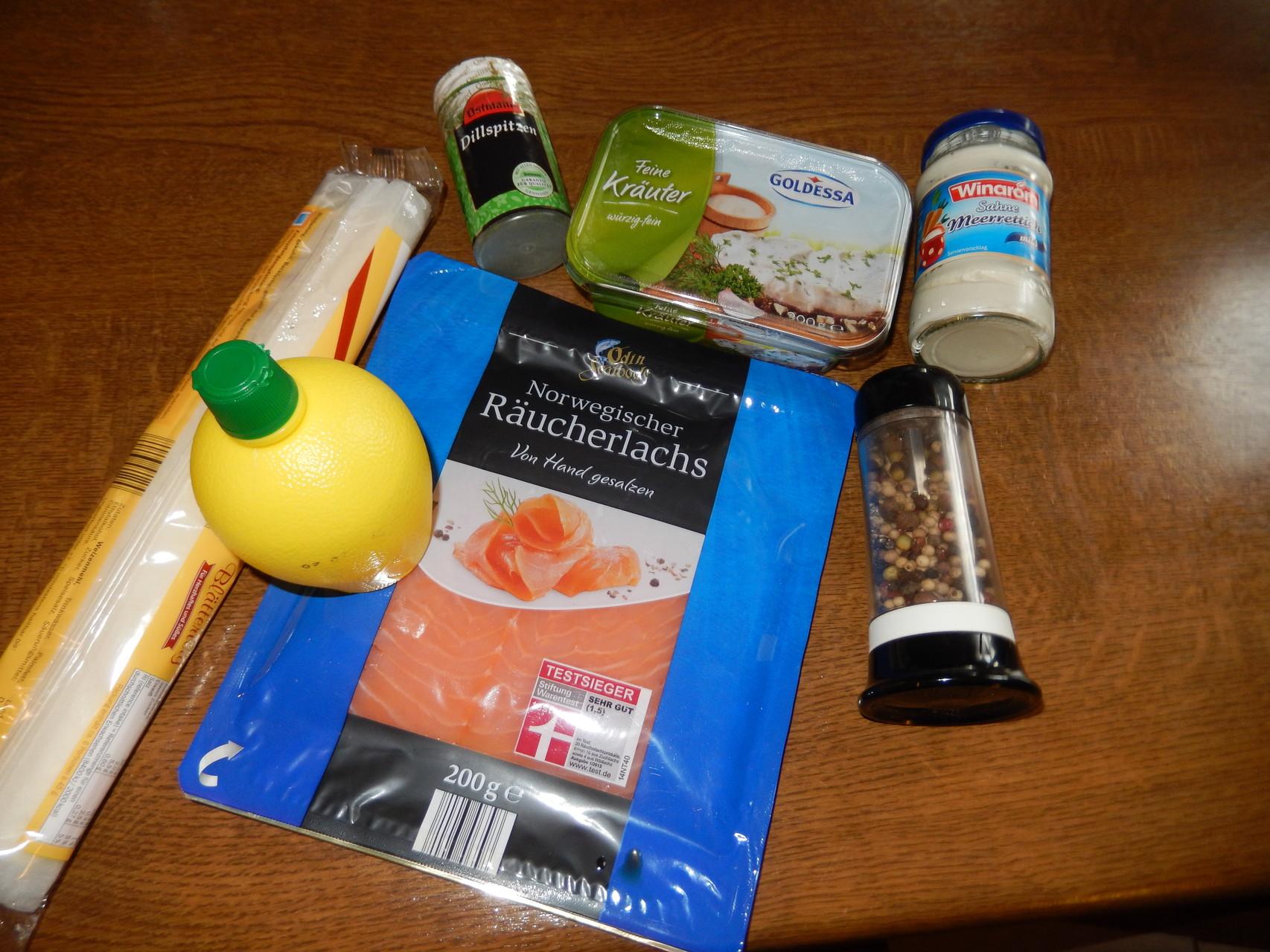 das nächste ist dran, Lachsröllchen mit Kräuterfrischkäse