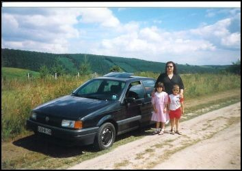 Bei einem späteren Besuch in Thüringen hatten wir dann einen Passat als Zugfahrzeug für den Wohnwagen.