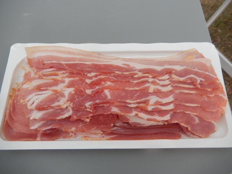 erstmal den Bacon auspacken