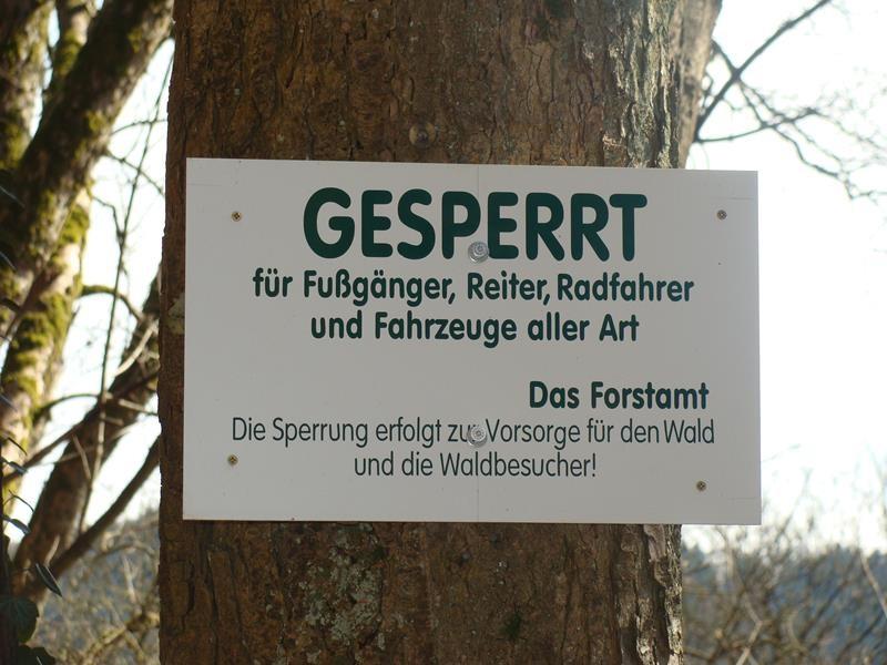 Ähm....ja - wer ist hier mit Waldbesucher wohl gemeint? Spaziergänger, also Fußgänger wohl nicht, oder?