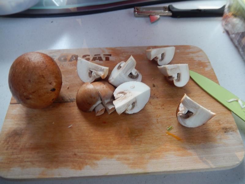 die Pilze tu ich nur vierteln
