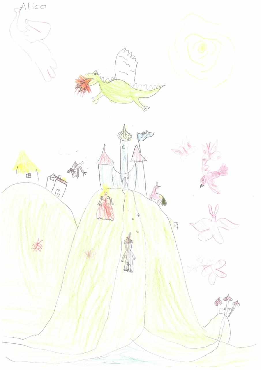 Das Eselein auf dem Weg zum Schloss
