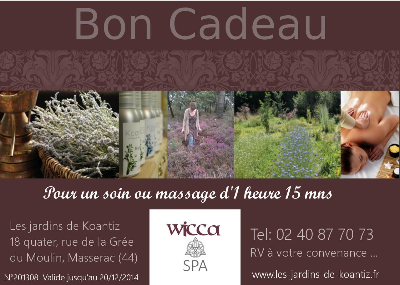 Ch que et bon cadeau les jardins de koantiz wicca spa for Week end des jardins
