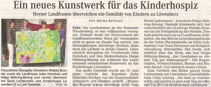 Weser-Kurier, 20.07.2011
