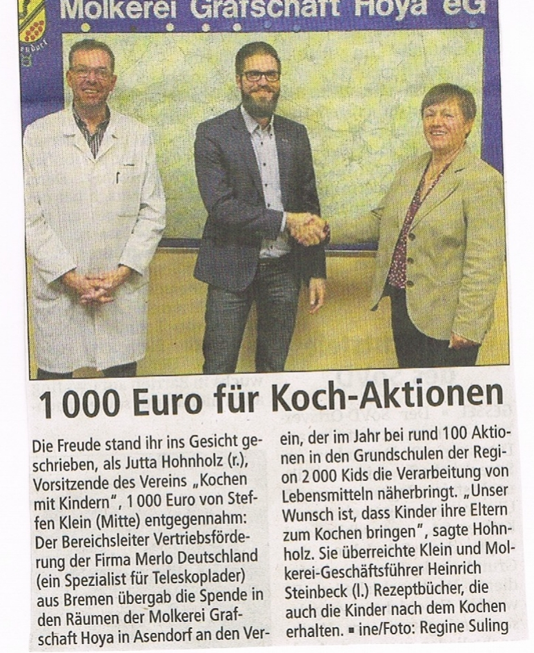 Mit freundlicher Genehmigung der Kreiszeitung vom 29.11.2106