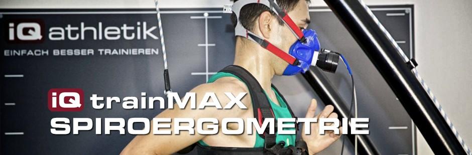 iQ trainMAX Spiroergometrie zum Bestimmen von Trainingszonen