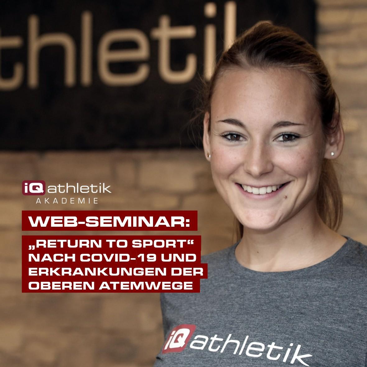 Web-Seminar: Return to Sport nach einer COVID-19-Infektion oder einer Erkrankung der oberen Atemwege | am 15.04.2021
