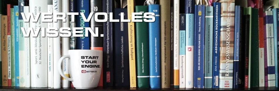 Sportwissenschaftliche Bibliothek mit Artikeln zum Thema Ausdauertraining