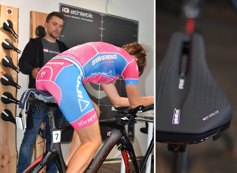 Der Stride Sattel wurde speziell für Triathlon und Zeitfahren entwickelt