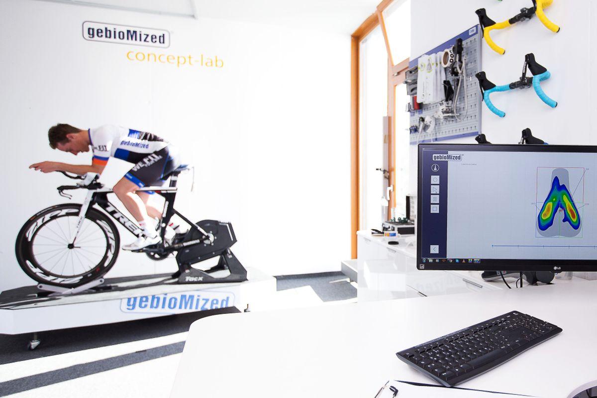 Analyse der Druckverteilung auf dem Sattel beim Radfahren