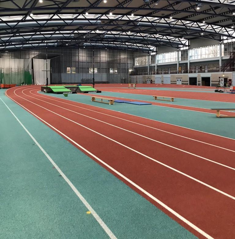 Außeneinsatz in der Leichtathletikhalle